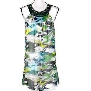 BCBGMAXAZRIA 100% Silk Lined Shift Dress Size 6